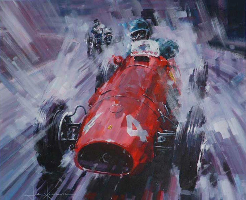 John Ketchell Paints Semi Abstract Racing Fury Art Cars Automotive Art Illustrations Car Painting