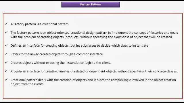 JAVA EE: Factory Design Pattern - Key Points | JAVA, Servlet