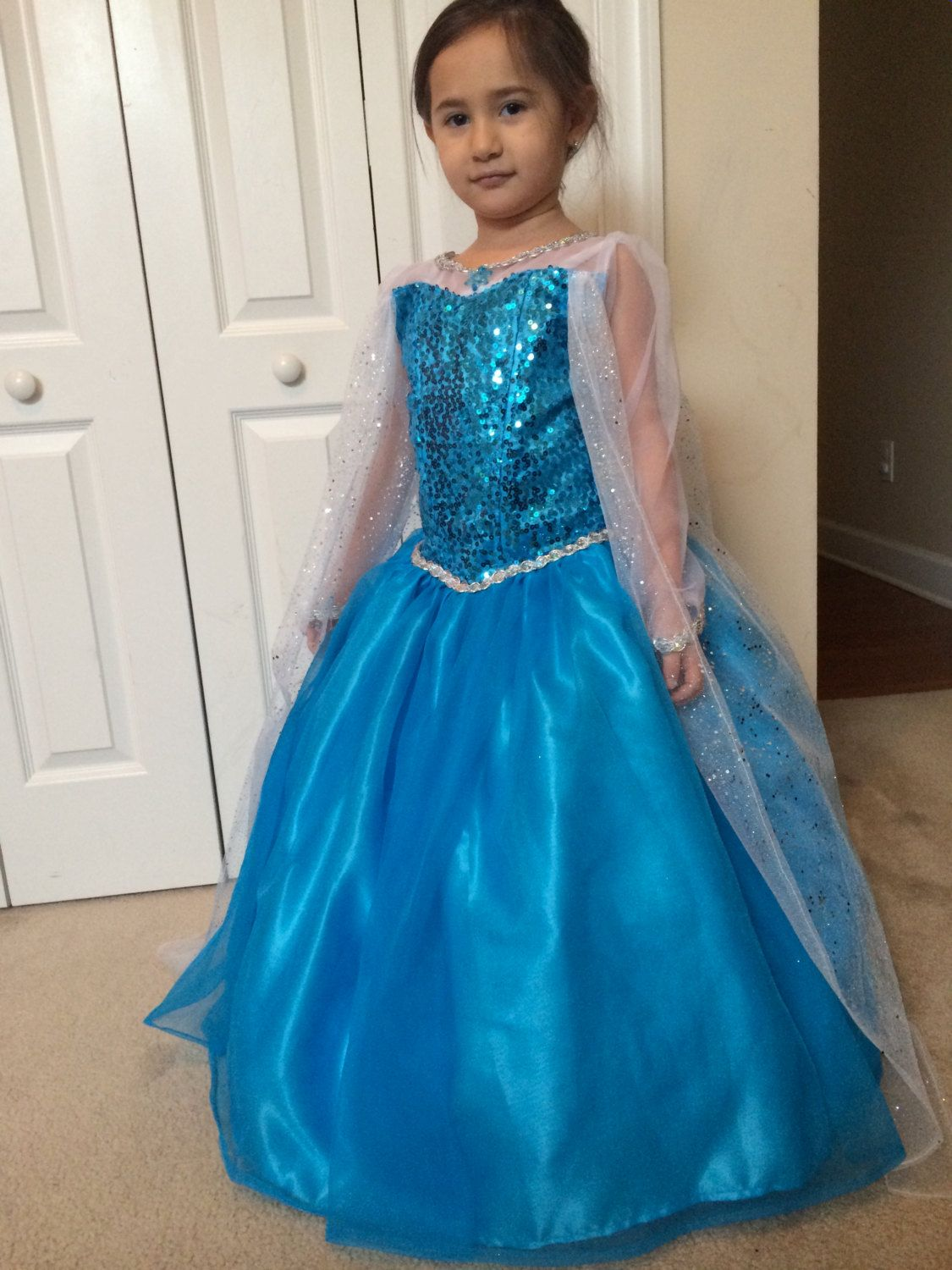 Elsa dress costume inspired in the Frozen Movie by Aledresses ...