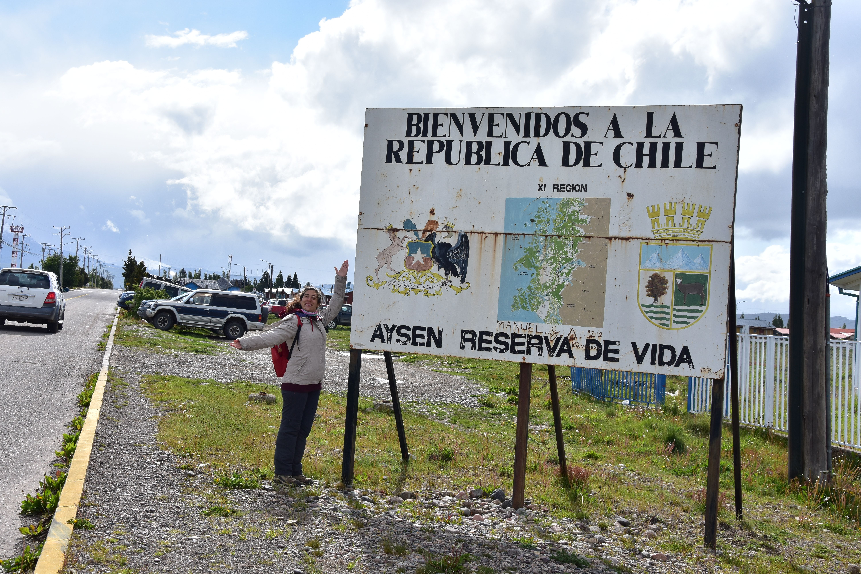 Paso fronterizo Los Huemules en Balmaceda, Chile
