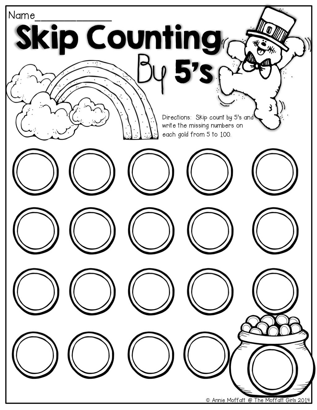 March No Prep Packet Kindergarten