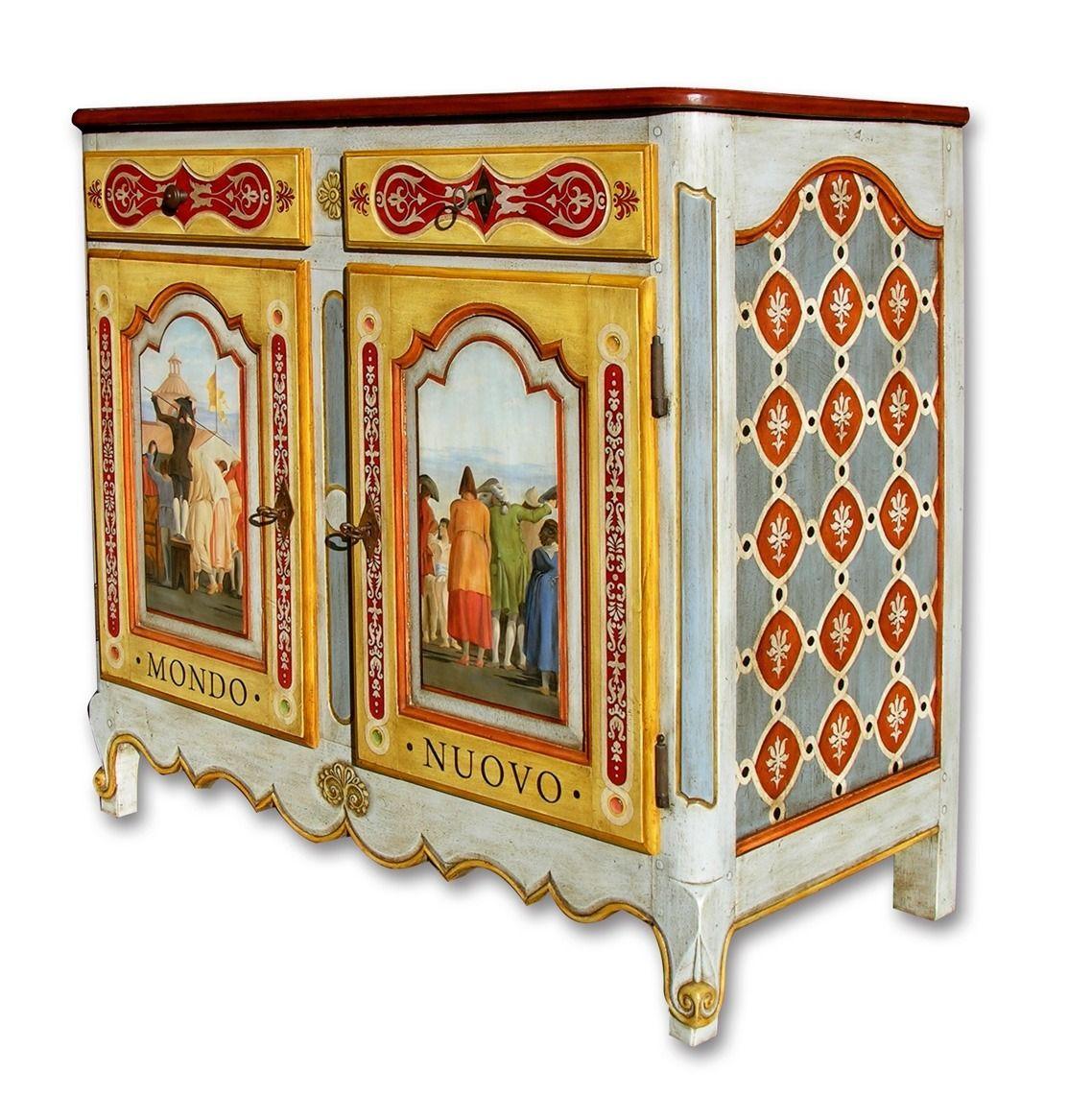 Meuble Peint A La Main Style Xviiie Meubles Et Rangements Par Epimaque Meuble Finition De Meubles Decor Antique