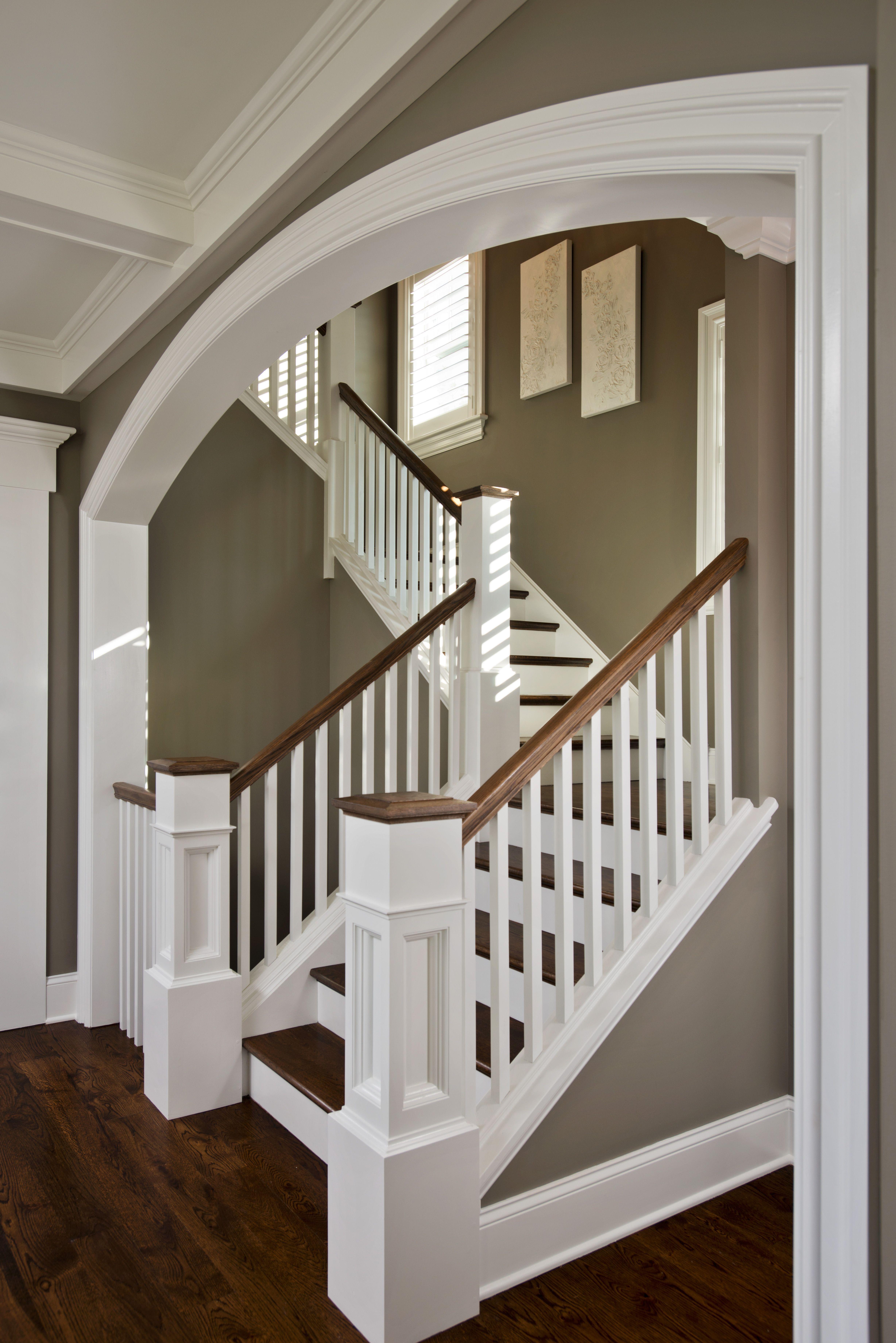Beautiful Arch Above Main Floor Stair Landing