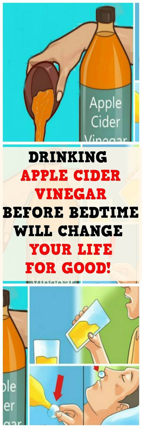DRINK APPLE CIDER VINEGAR BEFORE BED BECAUSE YOU WILL TREAT THESE HEALTH CONDITIONS!
