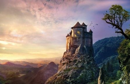 Download Castle On Mountain 4k Wallpaper For Free Come And Discover More 4k Ultra Hd Wallpapers Of Na Mountain Illustration New Wallpaper Hd Castle In The Sky