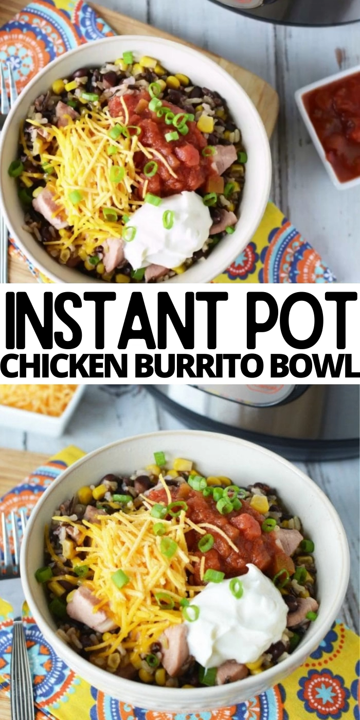 INSTANT POT CHICKEN BURRITO BOWL -   19 healthy instant pot recipes chicken burrito bowl ideas
