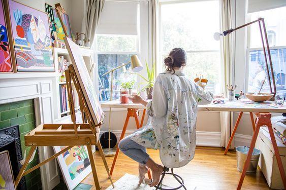 Estudio de arte en casa: un espacio para la creatividad