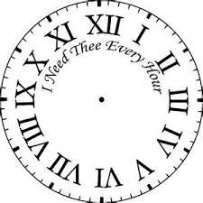 Image Result For Printable Square Clock Face Clock Stencils