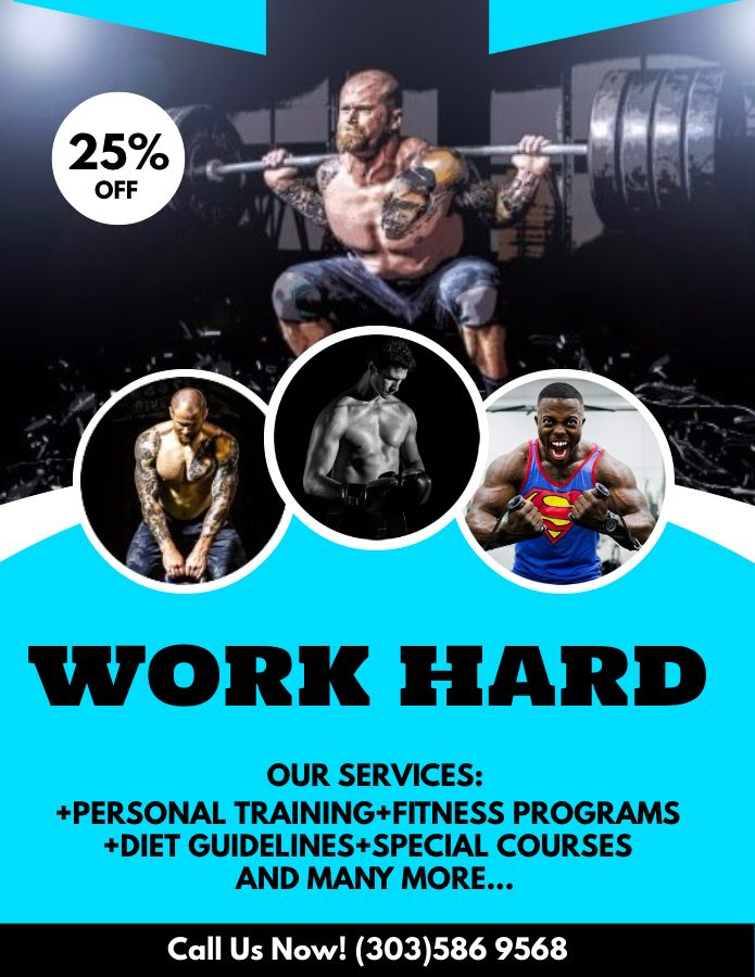 gym advertisement poster flyer social media graphic design