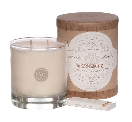 I want a lifetime supply of this candle. It smells AMAZING. Linnea's Lights Cashmere candle | Orange and Pear