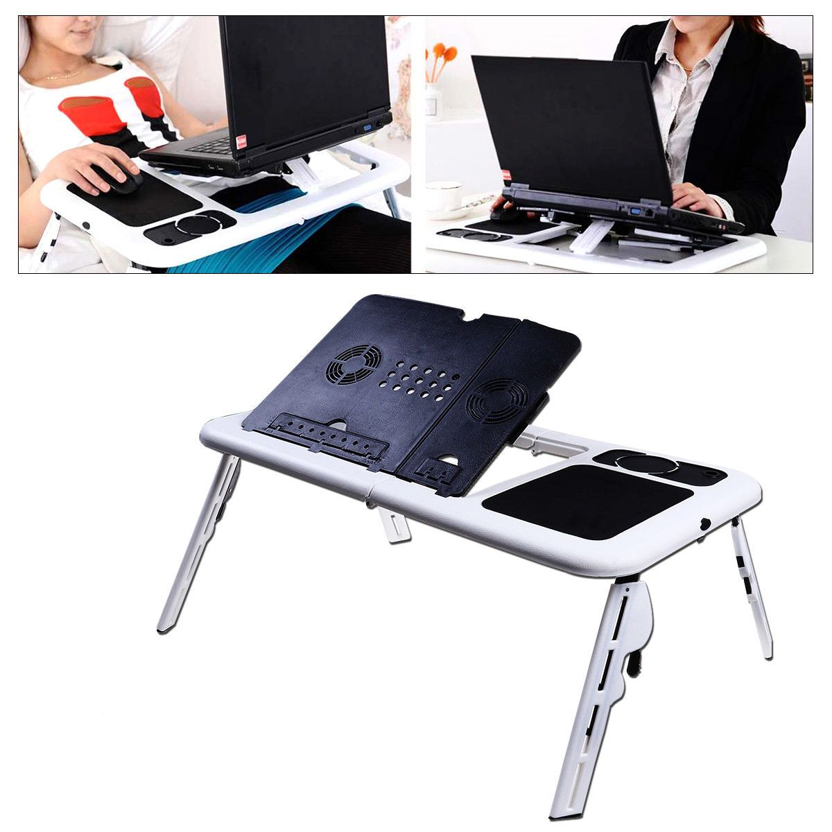 Foldable Adjustable Laptop Desk Table Stand Notebook For