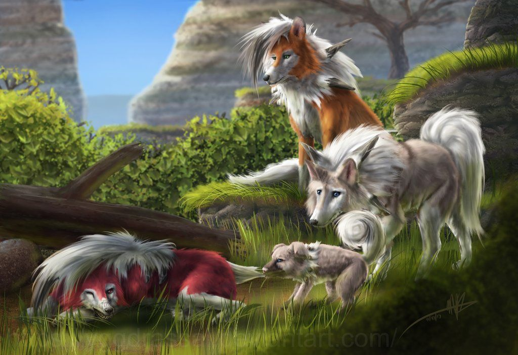 Lycanroc And Rockruff By Yggdrassal Mike Shachook