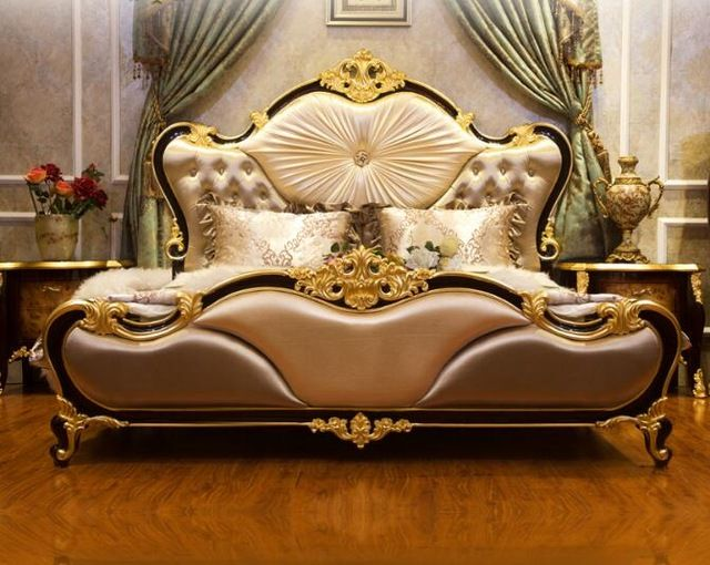 low priced d7eea 9b25c Source BISINI Classic Style Fabric Villa Bedroom Set on m ...