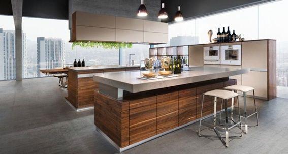 cocinas madera con isla Buscar con Google cocinas Pinterest