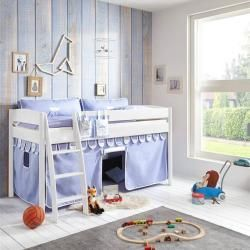 Mid-high children's bed Viborg-13 90x200 cm solid beech lacquered white, with textile set blue / boy Relita -  Mid-high children's bed Viborg-13 90×200 cm solid beech lacquered white, with textile set blu - #90x200 #amazongiftcard #Bed #beech #Blue #Boy #children #children39s #coolbedforboys #freegiftcard #giftcardluxury #giftcardvoucher #lacquered #Midhigh #Relita #Set #simplebedcomforters #solid #textile #viborg #Viborg13 #white