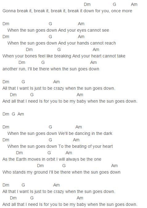Sun Goes Down Chords Capo 5 David Guetta, MAGIC!, Showtek, Sonny ...