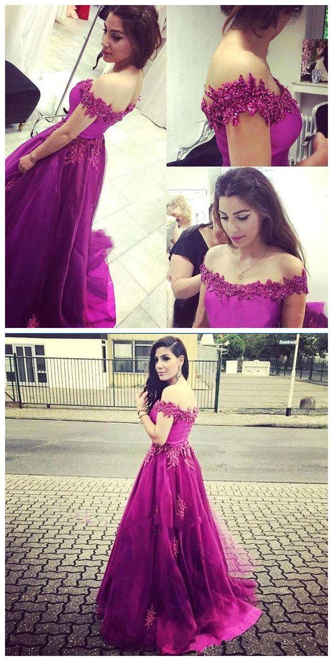 Hot pink homecoming dress  long Prom Dresses Evening Gownhot pink Prom dressoff  comigo