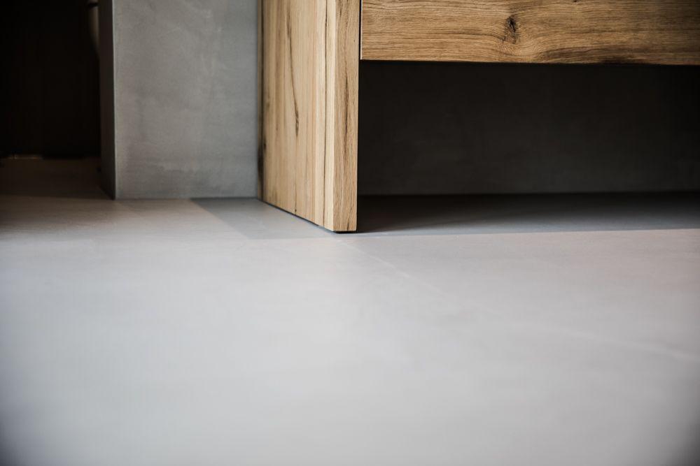 Badezimmerboden Pflegeleicht Fugenlos Designboden Sichtestrich - Badezimmerboden ohne fliesen