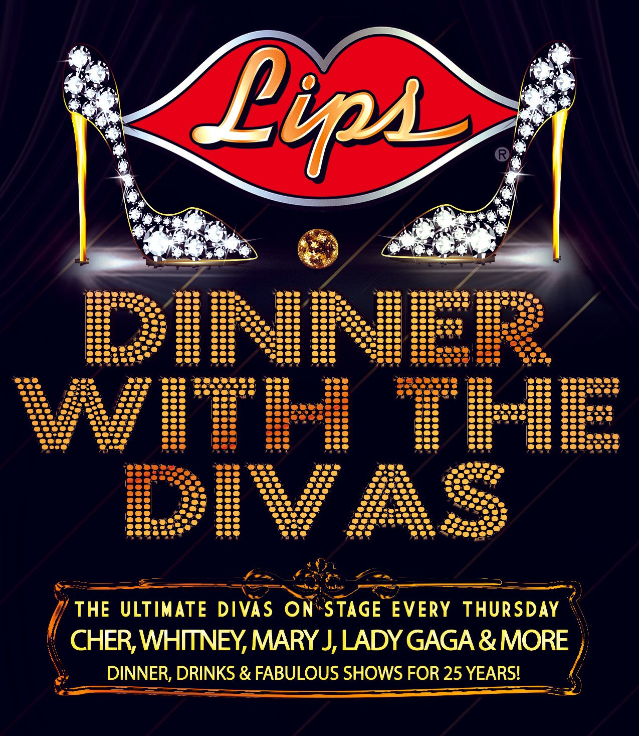 Chicago's ULTIMATE Dinner with The Divas! The only true LaCage experience in Chicago! Party with the Queens! Dinner and Show package $24.95, or order from out a la carte menu. #lipschicago #divas #bachelorette #drag #dragshow #dragqueen #birthday #celebration #burlesque #instadrag #rpdr #rupaul #rupaulsdragrace #instagay #burlesqueshow #queen