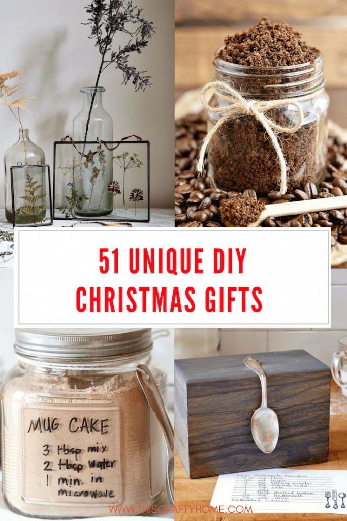 51 Creative Diy Christmas Gifts In 2020 Unique Christmas Gifts Diy Diy Christmas Gifts Creative Easy Christmas Diy