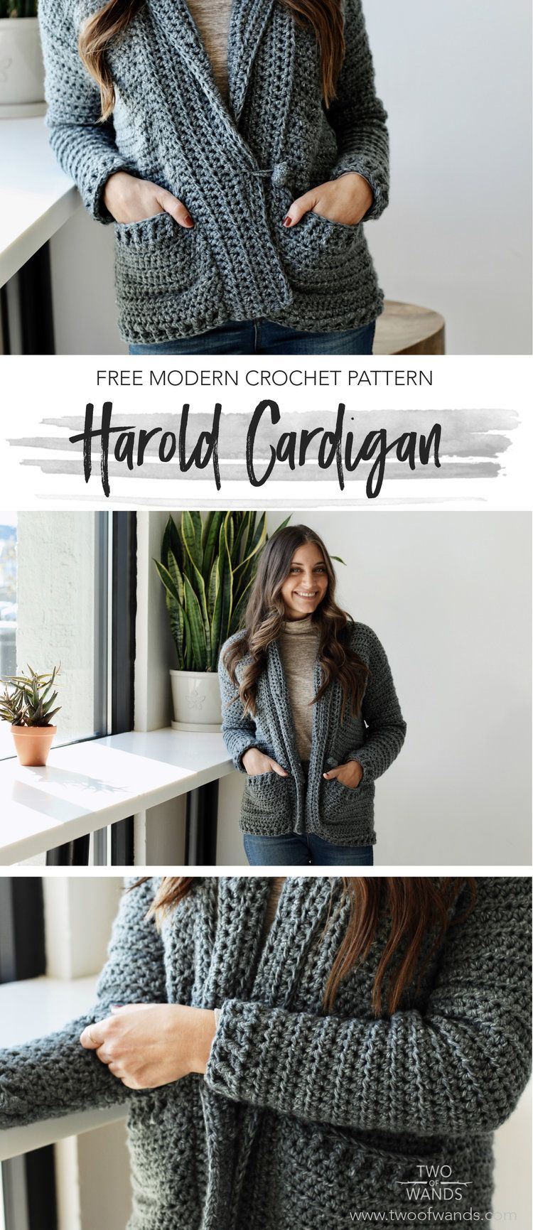 9b0b4d779 Harold Cardigan pattern by Two of Wands. The classic shawl collar is the  perfect compliment to this boxy silhouette and the toggle button adds even  more ...