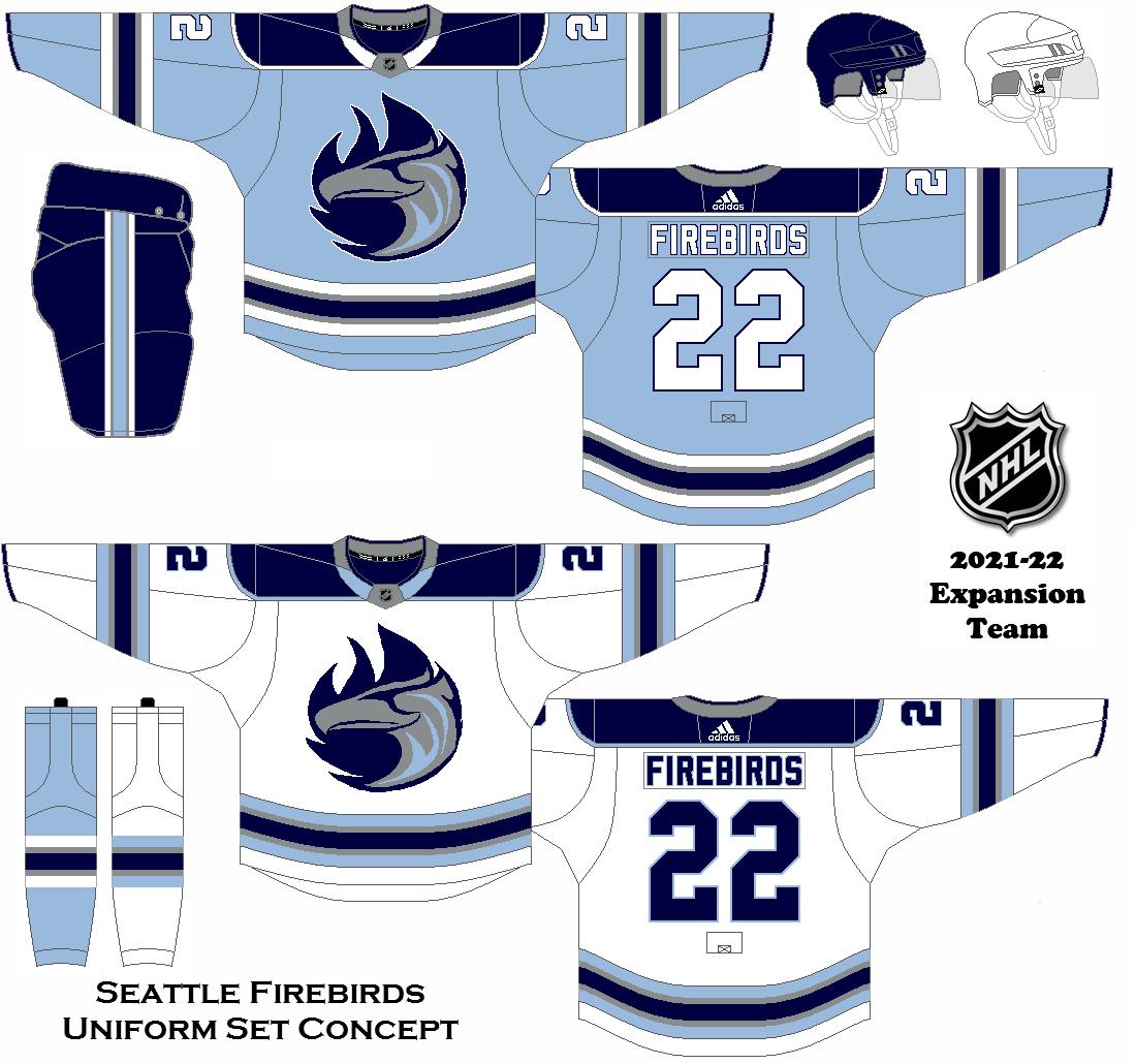 2021 22 Seattle Nhl Concepts Fantasy Hockey Ice Hockey Jersey Uniform