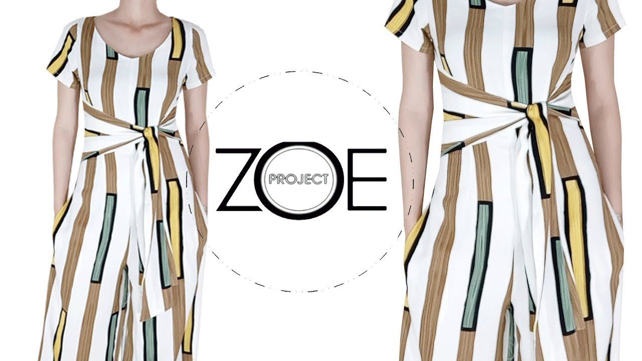 DIY sewing culotte jumpsuit | Zoe diy | FREE pattern ep 04 - YouTube ...