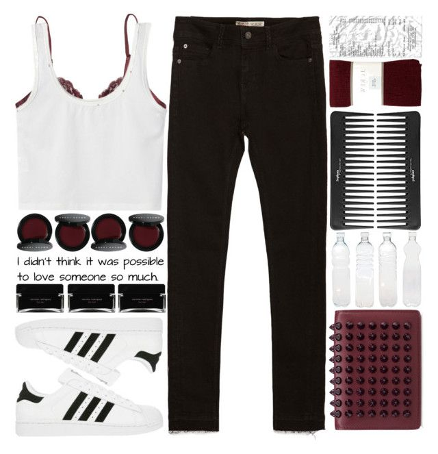 """everyday style..."" by cinnamon-and-cocoa ❤ liked on Polyvore featuring Monki, Zara, adidas, Christian Louboutin, Bobbi Brown Cosmetics, Sephora Collection, Seletti, J.Crew and Narciso Rodriguez"