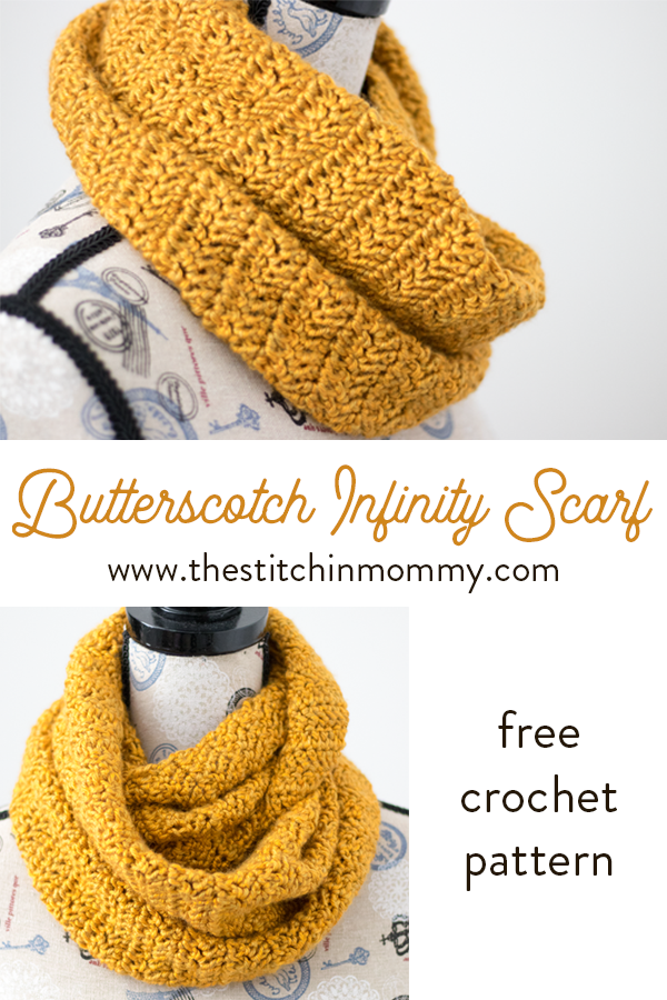 Butterscotch Infinity Scarf - Free Crochet Pattern #crochetscarves