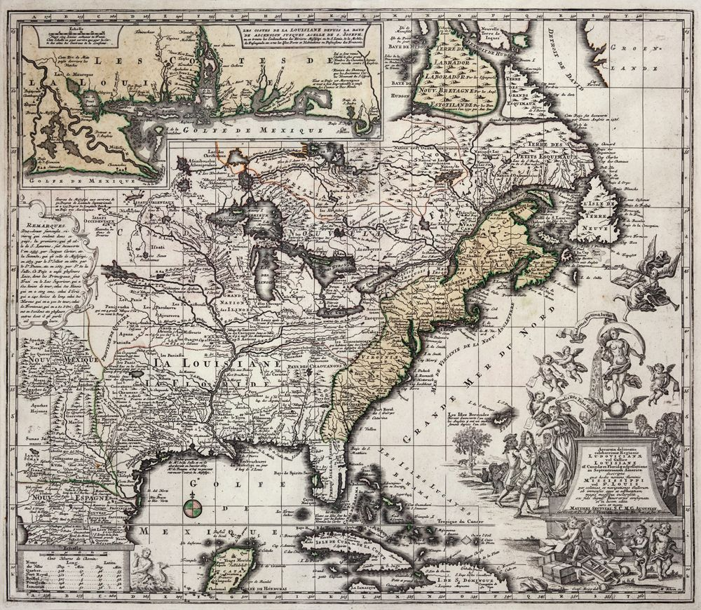 map of Louisiana 1700s #MarketingResults | Mapas antiguos ...