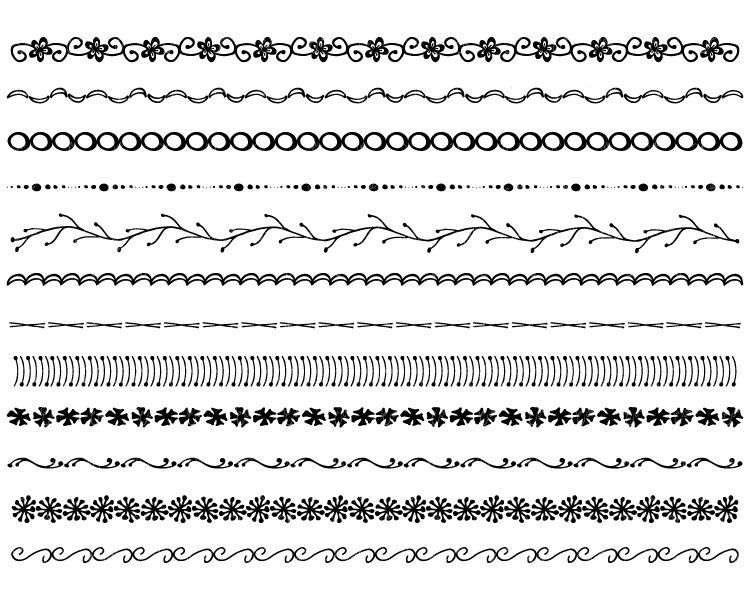 Hand Drawn Photoshop Brushes Hand Drawn Border By
