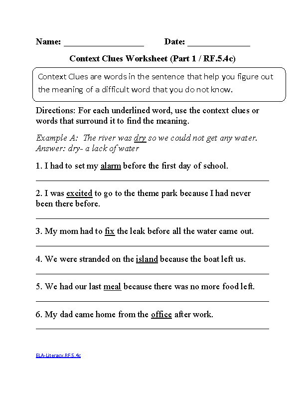 5th Grade Common Core | Reading Foundational Skills Worksheets ...
