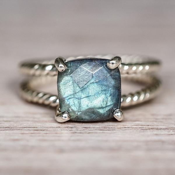 Stone Ring-Statement Ring-Blue Labradorite Boho Ring Gypsy Ring Labradorite Sterling Silver Ring Festival Jewelry-Stone Jewelry