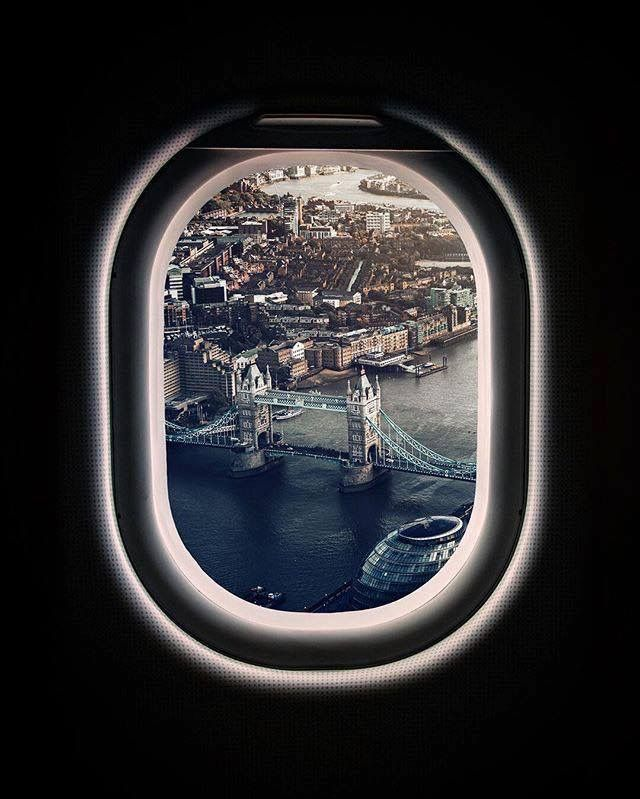 London Most Beautiful City In The World Plane Window View