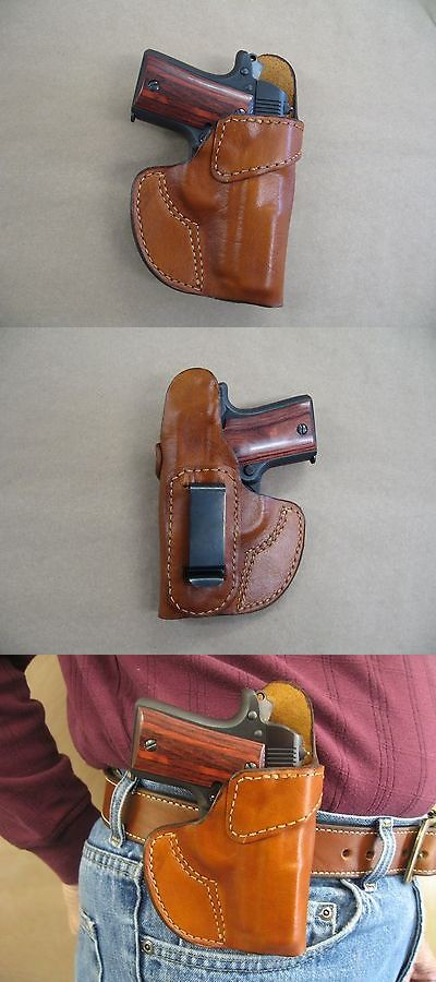 Holsters 177885: Kimber Micro 380 Leather Clip On Owb Belt
