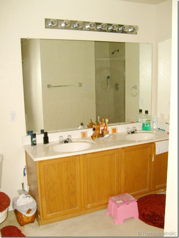 framing a large bathroom mirror - Bathroom Remodel Mirrors