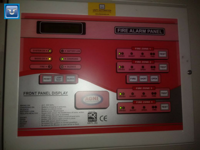 Fire Alarm System Installed By Uaspl Engineers In An Insurance Firm In Kohlapur Our Services Are Dependable Trus Fire Safety Alarm System Office Phone