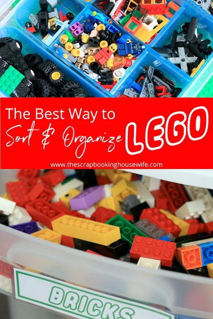 The Best Way to Sort and Organize Lego | Lego, Organizing and ...
