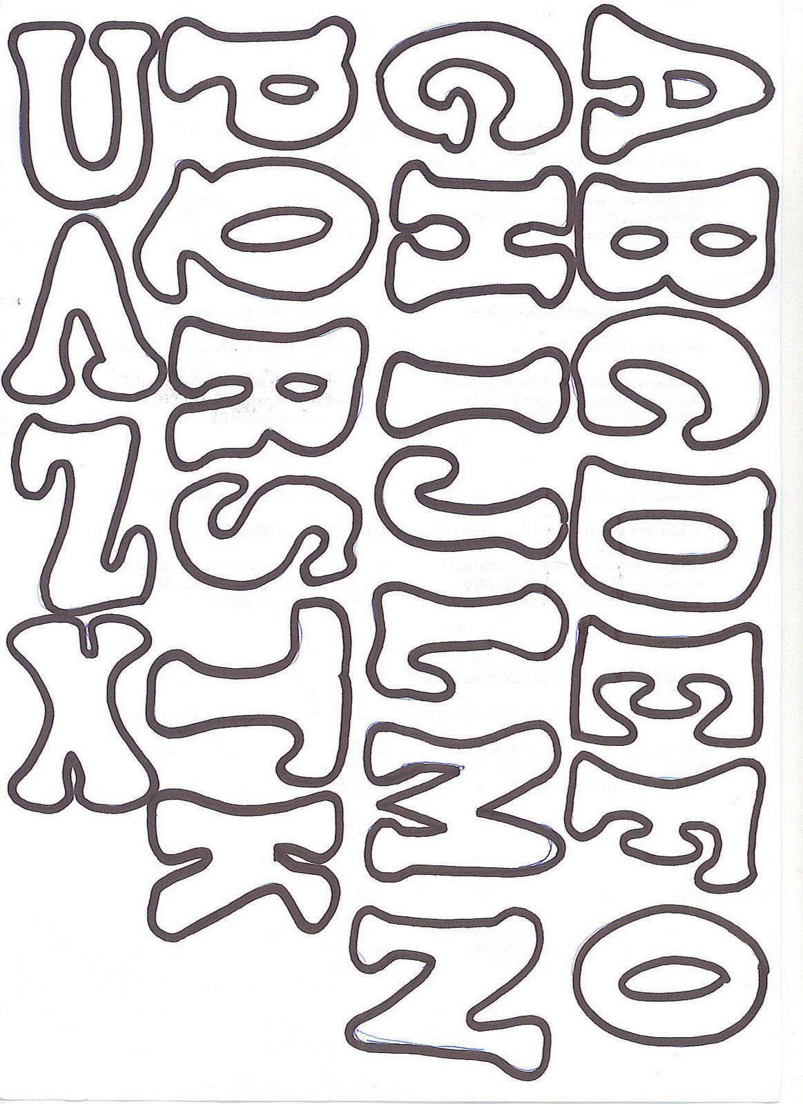 Moldes De Letras Cursivas 5