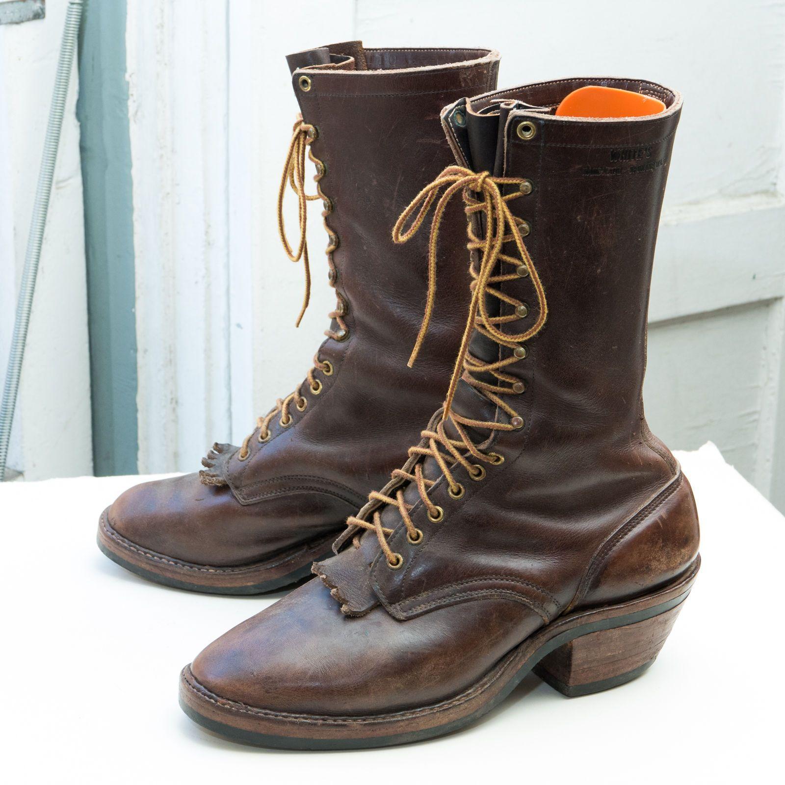 WHITE'S Custom Packer Boot, sz 10.5 FF (EEEE)- Brown Leather ...