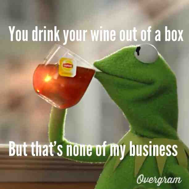 Hey there's nothing wrong with drinking #wine out of a box! #straya