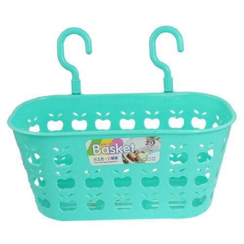 Amico Turquoise Plastic Perforated Apple Shape Double Hooks Kitchen Hanging Basket By Amico 5 48 Main Co Plastic Hanging Baskets Blue Baskets Dining Storage