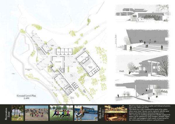 Meditation And Yoga Center By Noha Hassan Via Behance Yoga Center Meditation Architecture Presentation