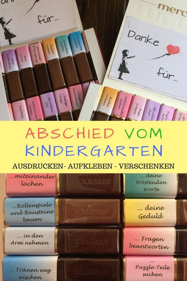 Abschiedsgeschenk Kindergarten & Erzieherin: Merci