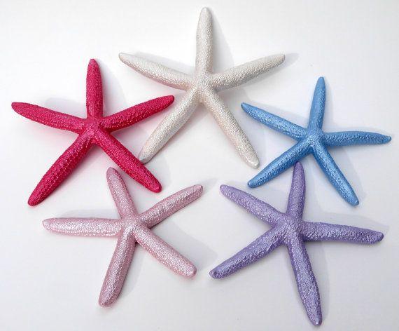 Etsy.com Colorful Starfish Beach Wedding Reception by GlitterOrnaments, $25.00