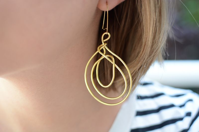 DIY: Statement Ohrringe aus Draht | Statement ohrringe