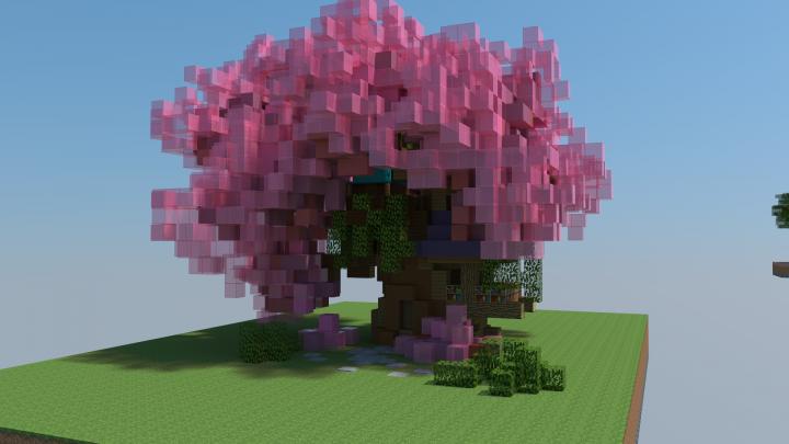 Minecraft Cherry Blossom Tree Google Search