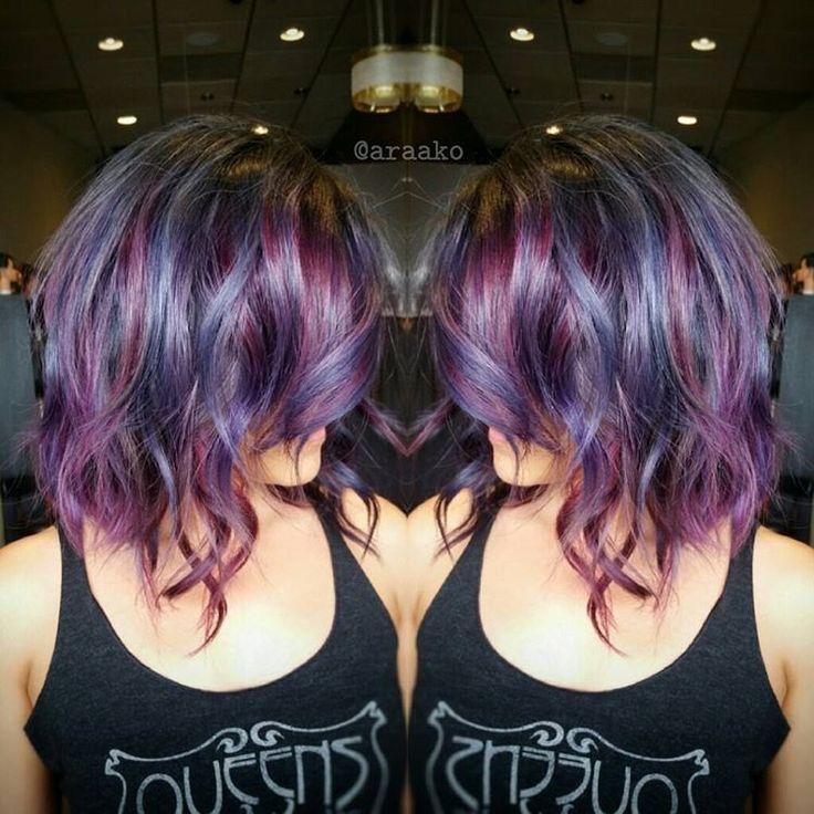 Love!!!!!! | Cheveux très colorés, Coloration cheveux, Coupe de cheveux