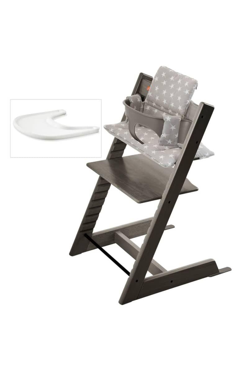 Tripp Trapp Chair Baby Set Cushion Tray Set Main Color Hazy Grey Tripp Trapp Chair Stokke High Chair Cheap Bean Bag Chairs