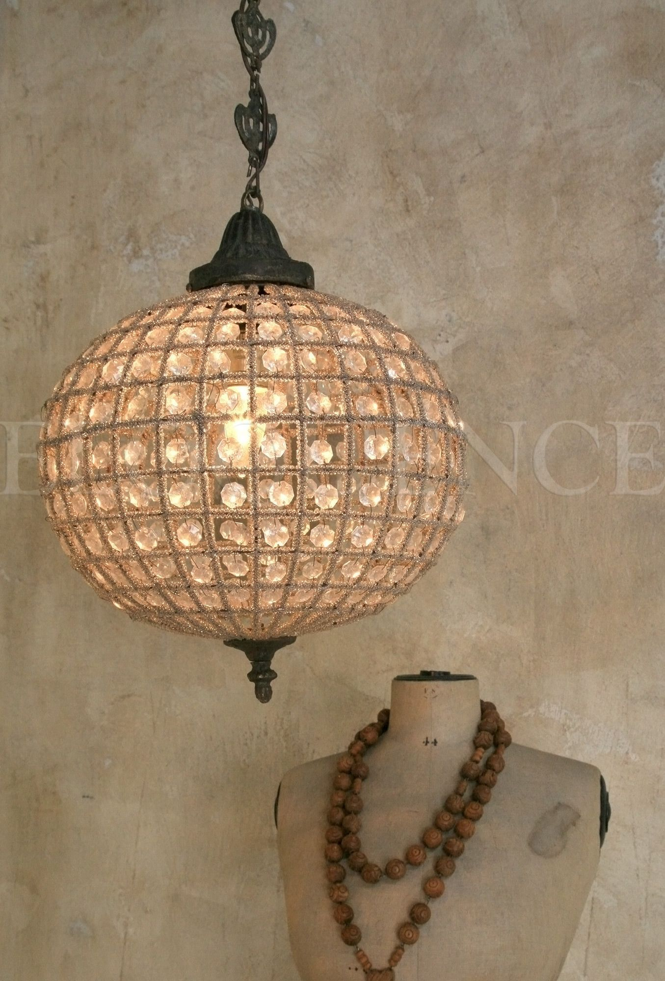 Small Globe Beaded Chandelier Eloquence Inc